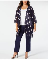 b8764b80e7 Jessica Simpson Printed Chiffon Cover-up in Blue - Lyst
