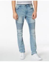American Rag - Slim-fit Stretch Destroyed Moto Jeans, Created For Macy's - Lyst