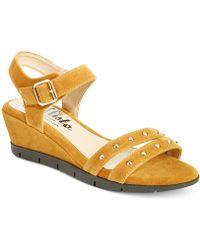 Callisto - Plush Wedge Sandals - Lyst