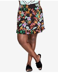 City Chic - Trendy Plus Size Floral-print Skirt - Lyst