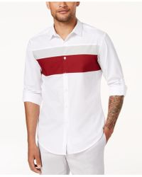 INC International Concepts - Colorblocked Hybrid Shirt, Created For Macy's - Lyst