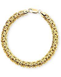 Macy's - 14k Gold Byzantine Bracelet - Lyst