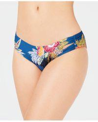 SOLUNA - Over The Moon Shirred Cutout Bikini Bottoms - Lyst