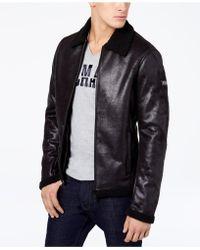 Armani Exchange - Men's Faux-shearling Full-zip Jacket - Lyst