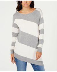 Vince Camuto - Striped Asymmetrical Jumper - Lyst