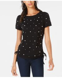INC International Concepts - I.n.c. Cotton Pearl Stud T-shirt, Created For Macy's - Lyst