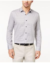 Alfani - Men's Plaid-print Shirt - Lyst
