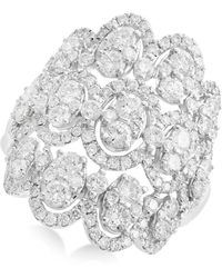 Effy Collection - Openwork Diamond Cluster Ring (2-1/3 Ct. T.w.) In 14k White Gold - Lyst