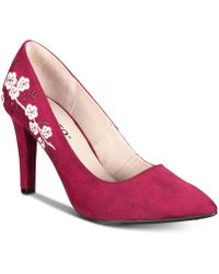 Rialto - Mackenna Embroidered Court Shoes - Lyst