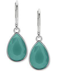 Nine West - Colored Stone Drop Earrings - Lyst