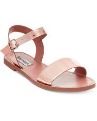 Steve Madden - Donddi Flat Sandals - Lyst