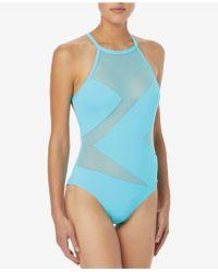 Michael Kors - Michael High-neck Illusion One-piece Swimsuit - Lyst