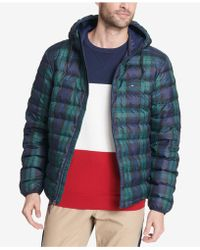 Tommy Hilfiger Color Block Hooded Ski Coat, Created For Macy's
