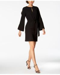 Julia Jordan - Split Bell-sleeve Keyhole Dress - Lyst