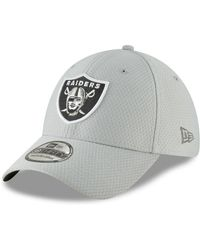ad28c24021030b KTZ Oakland Raiders Graphite Training 39thirty Cap in Gray for Men - Lyst