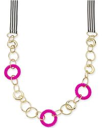 "INC International Concepts - Trina Turk X I.n.c. Gold-tone Bead & Link Ribbon 36"" Statement Necklace, Created For Macy's - Lyst"