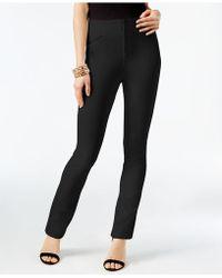 INC International Concepts - Faux-leather-trim Curvy-fit Pants - Lyst