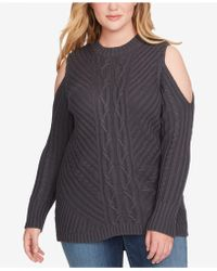 Jessica Simpson - Trendy Plus Size Posy Cold-shoulder Sweater - Lyst