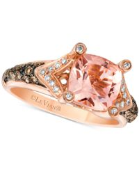 Le Vian - Chocolatier® With Peach Morganitetm (1-5/8 Ct. T.w.) And Diamond (3/8 Ct. T.w.) Ring In 14k Rose Gold - Lyst