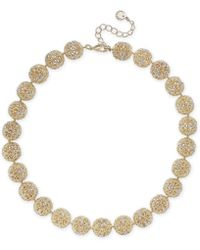 "Charter Club - Gold-tone Crystal Openwork Beaded Collar Necklace, 18"" + 2"" Extender, Created For Macy's - Lyst"