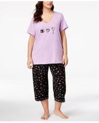 Hue - ® Plus Size Printed Capri Pyjama Set - Lyst