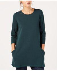 Eileen Fisher - Organic Cotton Crew-neck Tunic - Lyst