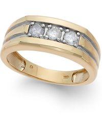 Macy's - Men's Diamond Ring In 10k Gold (1/2 Ct. T.w.) - Lyst