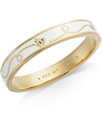 Kate Spade - Gold-tone Honey Bee Enamel Band - Lyst