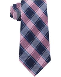 Michael Kors - Thin Double Track Check Tie - Lyst