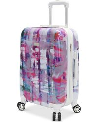"""Steve Madden - Closeout! Plaid 24"""" Expandable Hardside Spinner Suitcase - Lyst"""