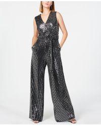Donna Ricco - Embellished Surplice Jumpsuit - Lyst