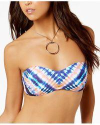 Trina Turk - Moonlight Tie-dyed Bandeau Bikini Top - Lyst
