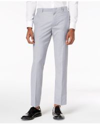 INC International Concepts - Slim-fit Grey Suit Trousers, Created For Macy's - Lyst