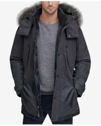 Marc New York - Mixed-media Parka With Removable Hood - Lyst