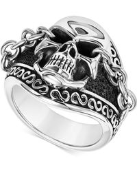 Scott Kay | Men's Skull & Chain Ring In Sterling Silver | Lyst