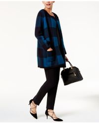 Alfani - Printed Sweater Coat - Lyst