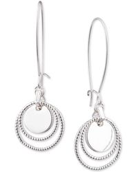 Nine West - Multi-disc Threader Earrings - Lyst