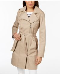 Vince Camuto - Hooded Asymmetrical Trench Coat - Lyst
