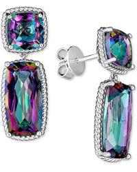 Macy's - Mystic Quartz (12 Ct. T.w.) Drop Earrings In Sterling Silver - Lyst