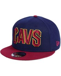 new arrival 83d04 34aca KTZ Cleveland Cavaliers Hwc The Land 9fifty Snapback Cap in Yellow for Men  - Lyst