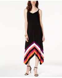 INC International Concepts - I.n.c. Petite Striped-border Handkerchief-hem Maxi Dress, Created For Macy's - Lyst