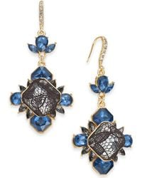 INC International Concepts - I.n.c. Gold-tone Stone & Lace Drop Earrings, Created For Macy's - Lyst