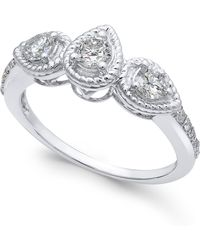 Macy's - Diamond Rope-framed Engagement Ring (5/8 Ct. T.w.) - Lyst