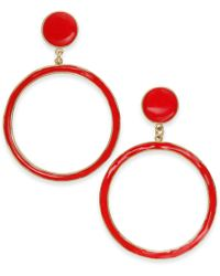 INC International Concepts - I.n.c. Extra Large Gold-tone Enamel Gypsy Hoop Earrings, Created For Macy's - Lyst