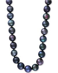 Effy Collection | Cultured Tahitian Pearl (10mm) Collar Necklace In 14k White Gold | Lyst
