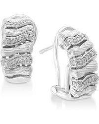 Effy Collection - Diamond Drop Earrings (1/5 Ct. T.w.) In Sterling Silver - Lyst