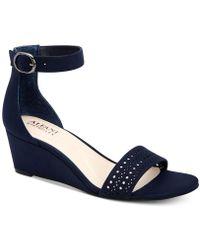 Alfani - Tamirra Step 'n Flex Wedge Sandals, Created For Macy's - Lyst