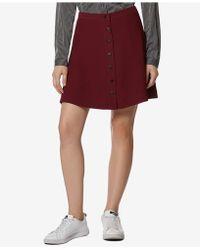 Avec Les Filles - Button-front A-line Mini Skirt - Lyst