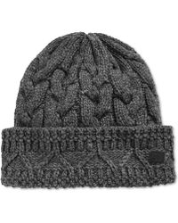 Sean John - Chunky Cable Knit Beanie - Lyst