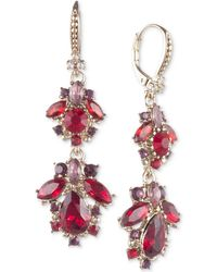 Marchesa - Gold-tone Stone & Crystal Cluster Drop Earrings. - Lyst